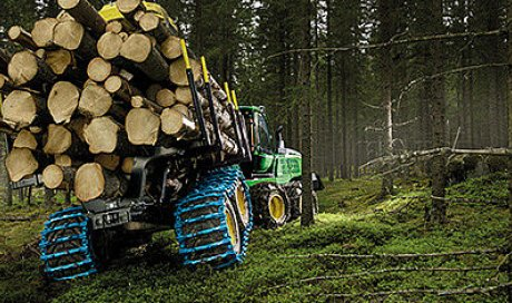 Vente de chaînes et chenilles pour engins forestiers Pewag